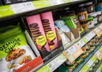 Vegane Produkte im EDEKA in March-Buchheim